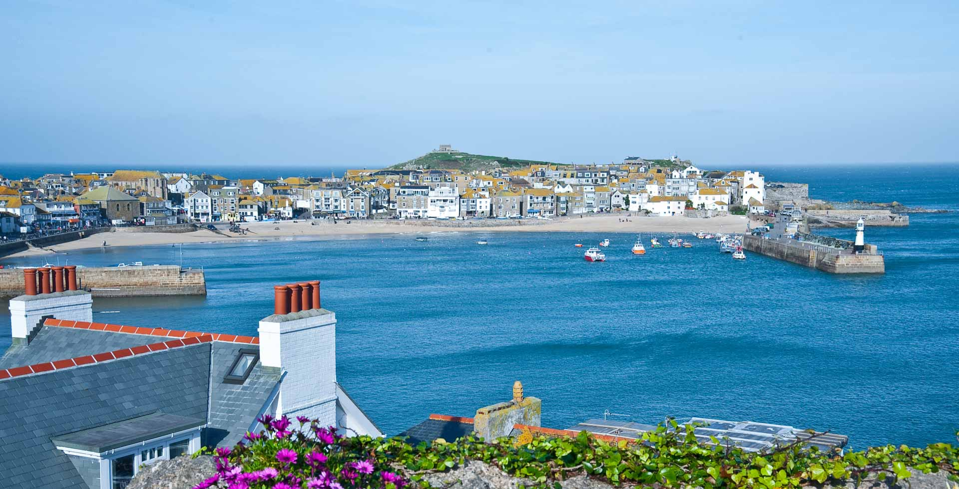 St Ives Harbour Beach Cornwall Cottages near St Ives ...